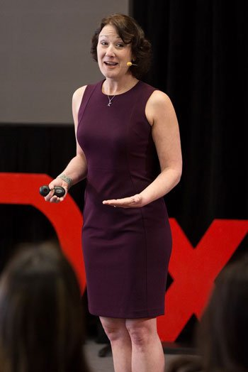 Dr. Gruver on the TedX Talk Stage