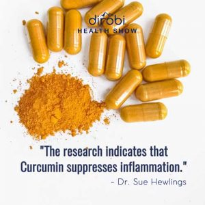 """The research indicates that Curcumin suppresses inflammation."""