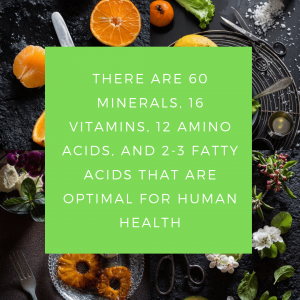 the types of nutrients in the 90
