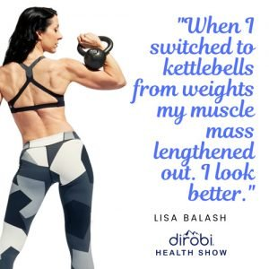 kettlebell training creates an elongated muscular look