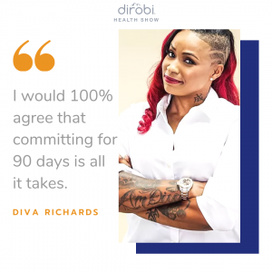 Diva Richards Commit Fitness Quote