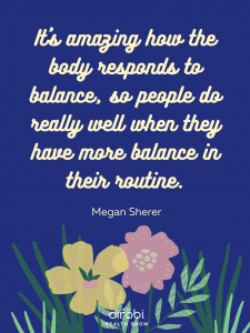 Megan Sherer Balance Nutrition Quote