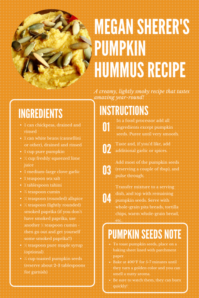 Megan Sherer Recipe Hummus