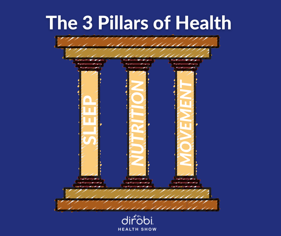 Three Pillars of Health graphic