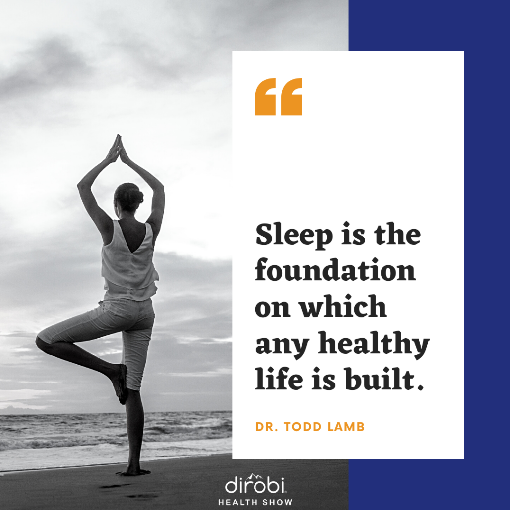 Sleep Pillar of Health Dr Todd Lamb